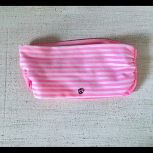 Lululemon Wide Pink Striped Headband